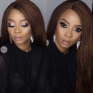 Toke Makinwa Slays In One Million Braid Wig To Her Book Reading